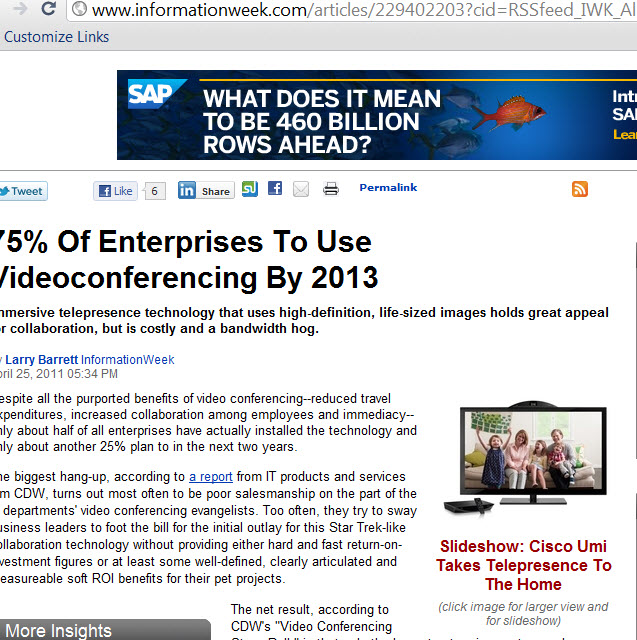 New statistics say 75 percent of enterprises to use video umi ciscos home teleconference system is hot in korea according to this video asfbconference2016 Choice Image