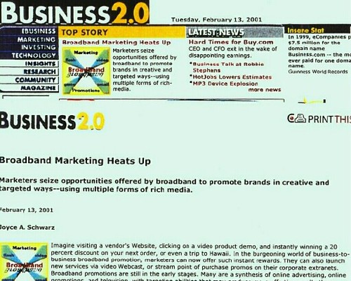 Business2.0 story written by Joyce Schwarz
