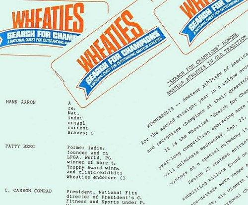 WHEATIES SEARCH FOR CHAMPIONS